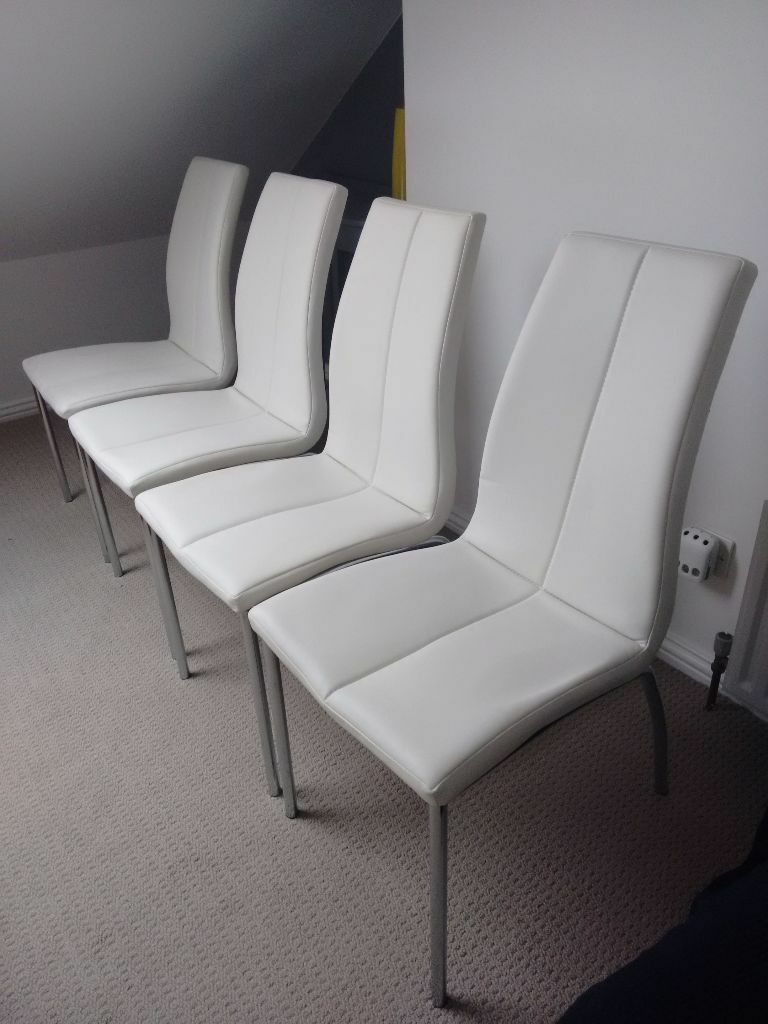 Next white faux leather dining chairs faux leather for White leather dining chairs