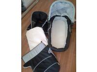 Hauck pram, carrycot with mattress sunshade & top cover