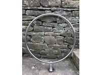 Shower rail, chrome circular, good as new