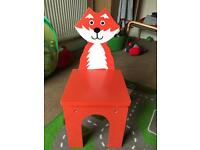 Children's fox chair