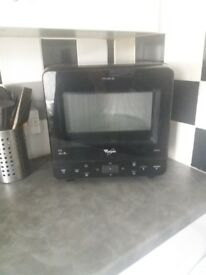 Black whirlpool max corner microwave