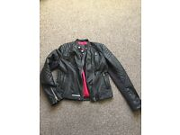 Super dry leather angles jacket