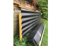 Black Kingspan Corrugated/Insulated Roof Panel and Ridge