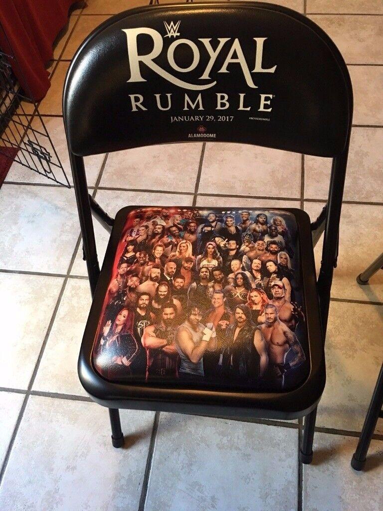 WWE ROYAL RUMBLE 2017 COMMEMORATIVE STEEL CHAIR *VERY RARE*