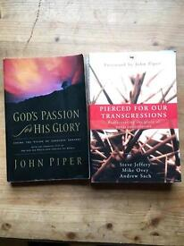 John Piper Books- Gods passion for his Glory and Pierced for our Transgressions