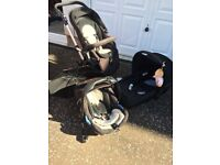 Concord (Jane) Neo travel system including lie flat car seat
