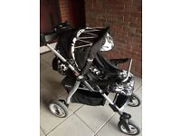 Britax Focus City 3in1 Travel System Pram/Buggy, Car Seat, Carry Cot, Cosy Toes, Rain Cover, Bag