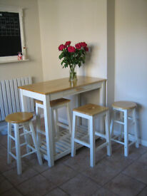 BREAKFAST BAR with stools