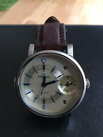 Large twin time Fossil watch