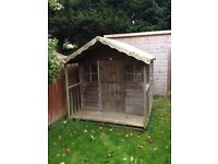 Wooden playhouse - excellent condition