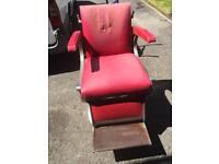1 red Belmont Apollo barbers chair
