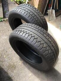 2 Michelin pilot alpin tyres 235/55 17, 7mm tread