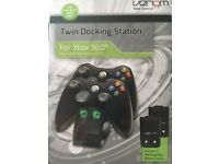 Xbox 360 Twin Docking Station. Rechargeable battery packs included.