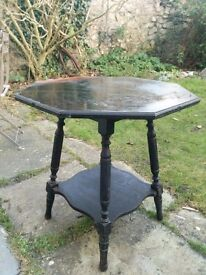 Vintage carved wooden occasional side table