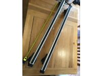 Thule Roof bars, 1140 mm long but fits roof rails max 1000 mm. C/w with 2 security keys.
