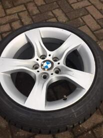 """17"""" BMW alloys with practically new winter tyres!"""