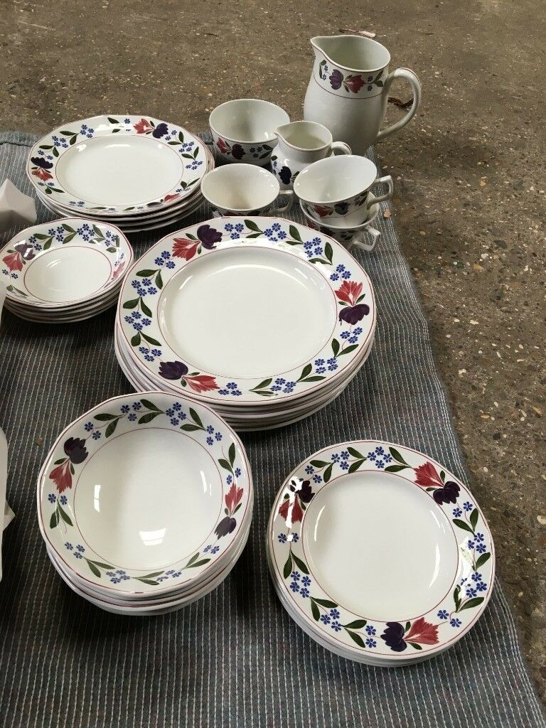 1970searly 80s Dinner Set Adams English Ironstone Old Colonial In
