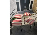 Dining Room Table and 4 upholstered chairs