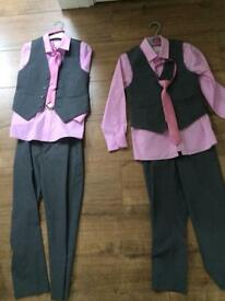 2 boys formal wear outfits (age 6/7, age 7/8)