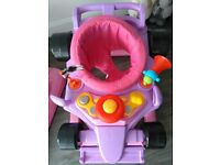 2 pink F1 style baby walkers