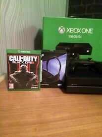 Xbox one boxed with controller and black ops 3 plus all cables