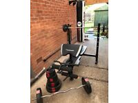Maximuscle Weight Bench, Bars and Weights