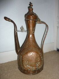 ANTIQUE HANDMADE MIDDLE EASTERN/ ISLAMIC COPPER DALLAH/EWER
