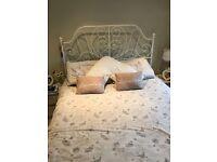 IKEA white king size metal bed frame