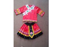 Girl Hmong Miao Red Dress