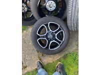 four wheels & tyres for a 2017 smart forfour alloy and Michelin tyres Very good condition
