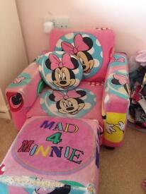 Children's chair and footstool (two)