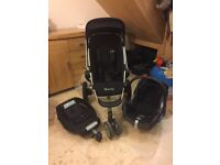 Quinny buzz 3 pushchair/travel system with Maxi Cosi car seat and Easybase for car