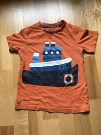 Orange boat t shirt age 4-5