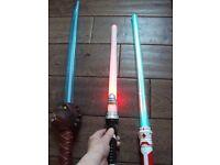 3 toy swords light up ones