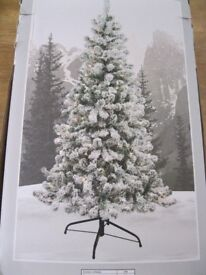 ''Next''- Christmas snowy tree with lights