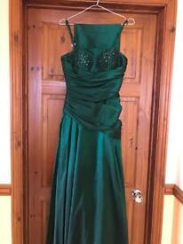 Emerald Green Prom/Bridesmaid Dress Size 10