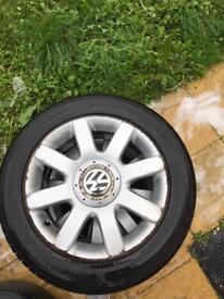 Vw golf gt alloys + tyres