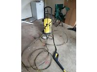 Karcher Power washer with drain attachment