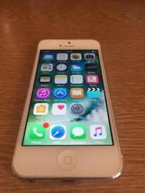 White iPhone 5 ( unlocked, free delivery, more phones)