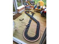 Scalextric Set with 4 cars and accessories