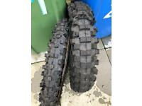 Pirelli Scorpion front and rear 2 motocross motorcycle tyre set