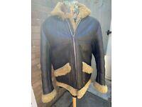 Vintage Full Sheepskin Bike Jacket