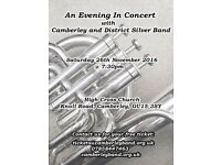 An Evening in concert with Camberley and District Silver Band - Saturday 26th November 2016