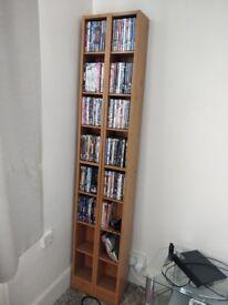 Extra tall DVD storage