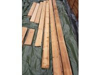 "Antique Victorian/Edwardian reclaimed pine wooden floorboards (5""3/4 x 3/4"" x Various lengths)"