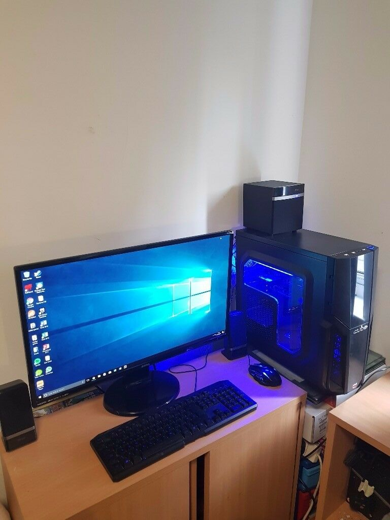 High Spec Cube Gaming PC + 27inch Monitor, Speakers, Keyboard, Mouse!!