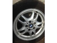 Set of 4 BMW E36 3 series 16 inch alloys with 4 tyres