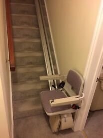 STAIR LIFT ACORN SUPERGLIDE 120 STAIRLIFT 4.3 METER TRACK LENGTH APPX