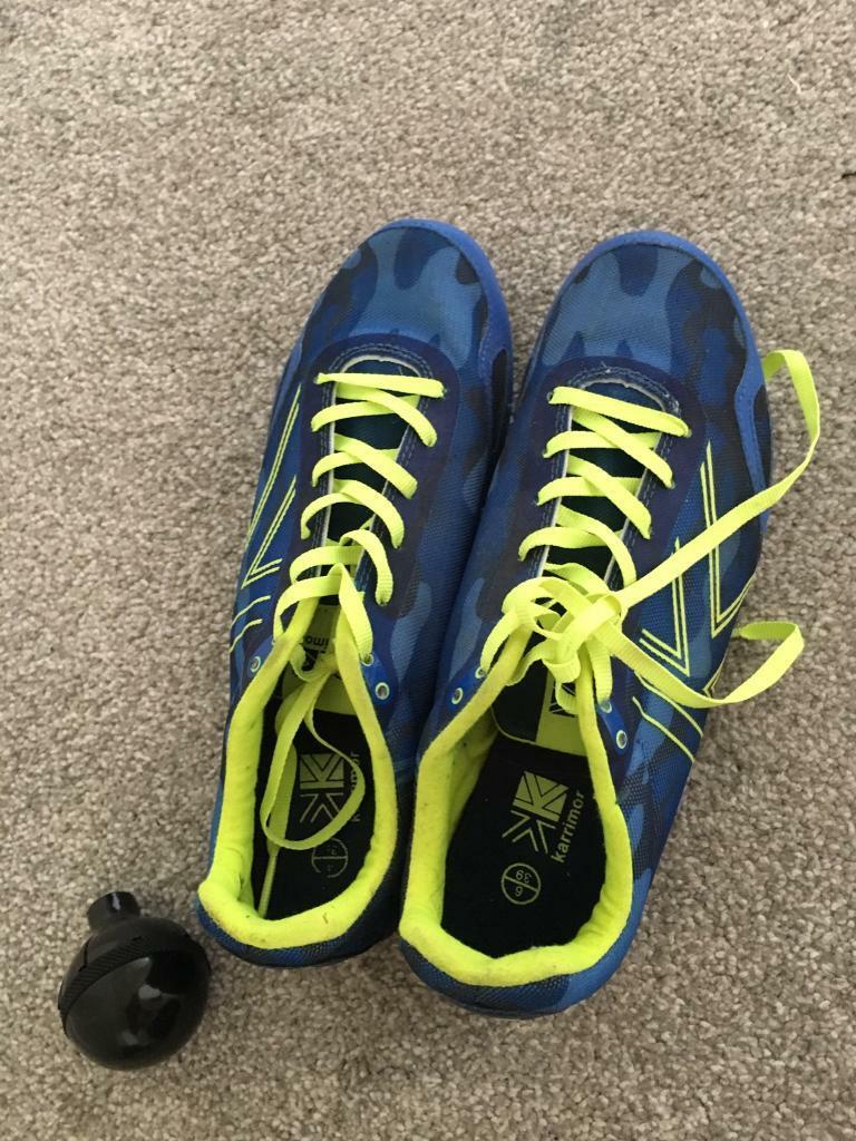 Running shoes spikesin Hemlington, North YorkshireGumtree - Karimor running shoes(spikes) size 6 nearly new,blue and luminous yellow laces,hits or boys