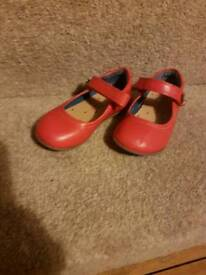 Red Infant Girls Next Shoes: Size 7